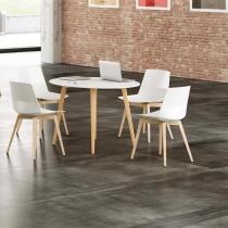 Siège visiteur et réunion - Chaise CLEM 4 pieds bois