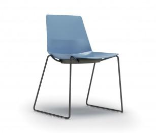 Siège visiteur et réunion - Chaise coque CLEM pieds Luge