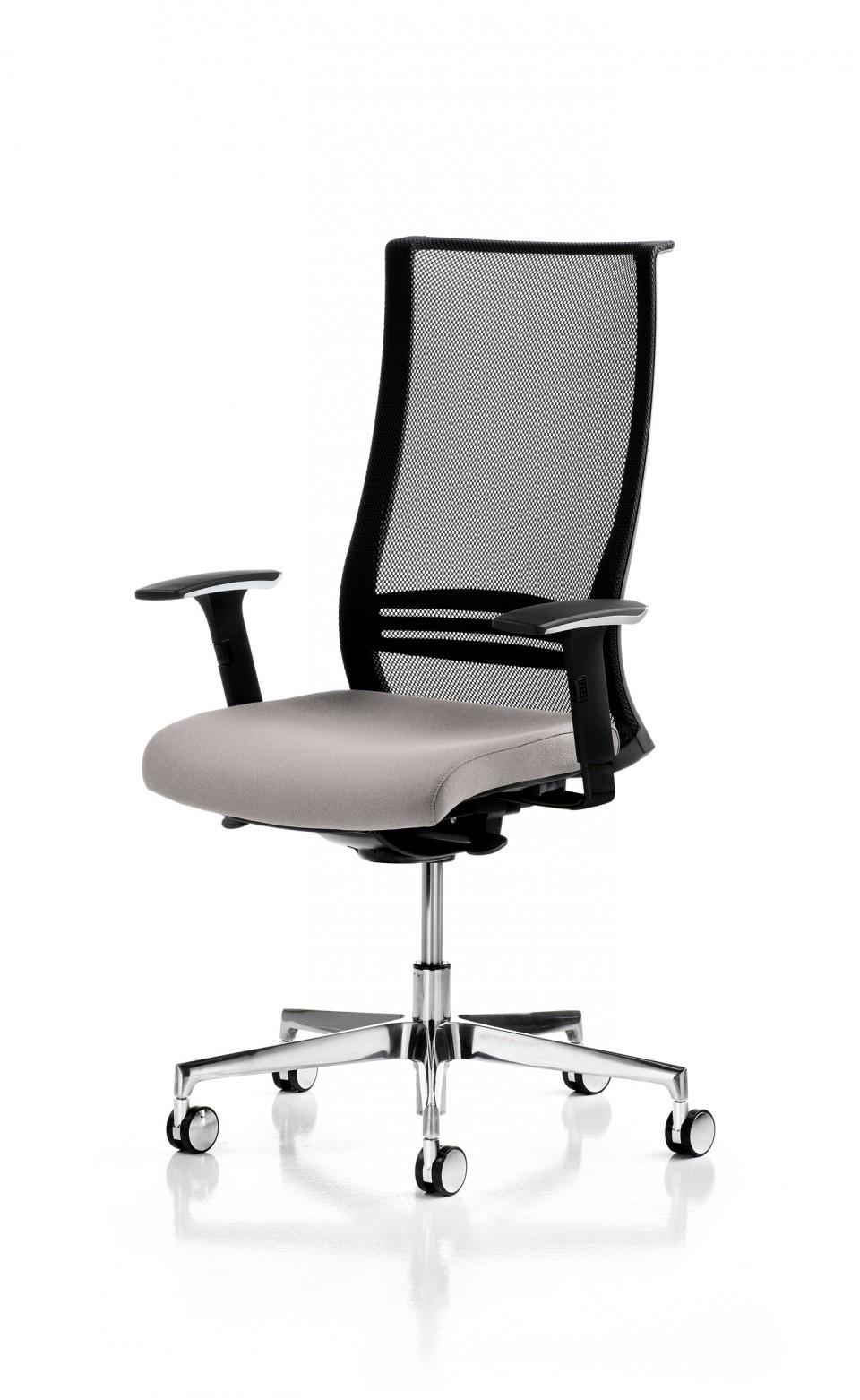 fauteuil bureau ergonomique wave noir achat si ge de. Black Bedroom Furniture Sets. Home Design Ideas