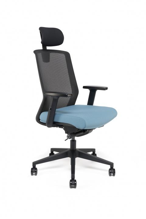 Fauteuil de bureau ergonomique TEA avec têtière