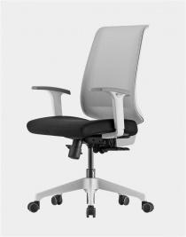 ACCOUDOIRS REGLABLES EN HAUTE - Siège de bureau ergonomique Duocolor Structure blanche