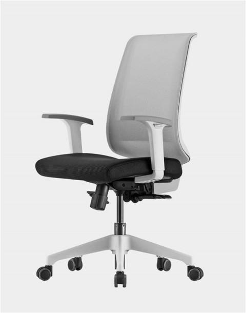 Siège de bureau ergonomique Duocolor Structure blanche