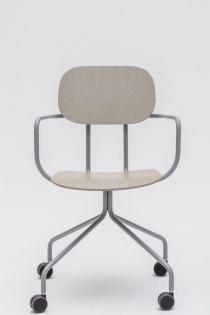 Siège visiteur et réunion - Chaise de réunion bois New School