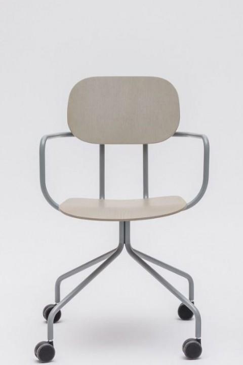 Chaise de réunion bois New School