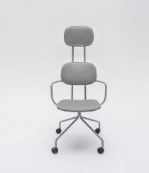 Siège visiteur et réunion - Chaise de réunion haut-dossier tissu New School