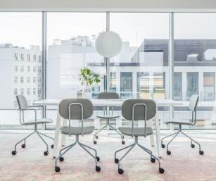 Siège visiteur et réunion - Chaise de réunion New School tissu