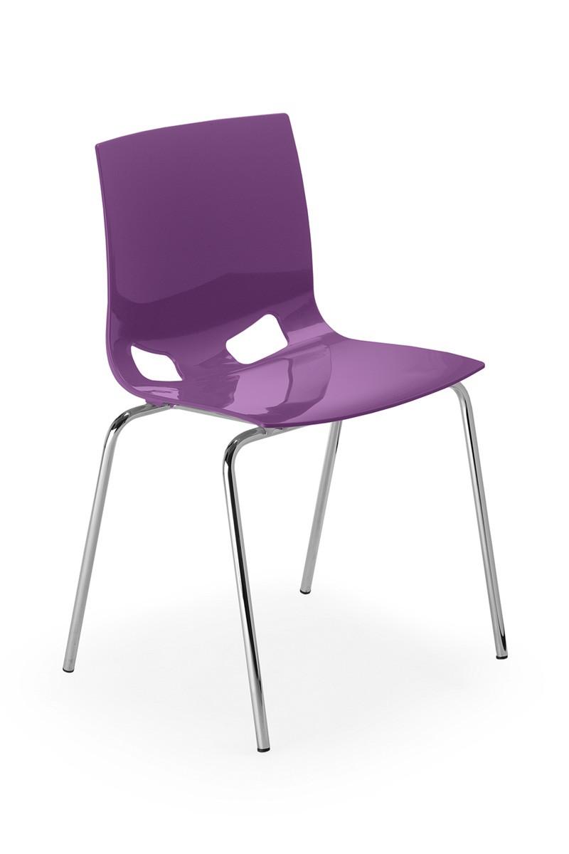 Chaise de collectivit glossy achat si ges visiteurs et for Largeur chaise