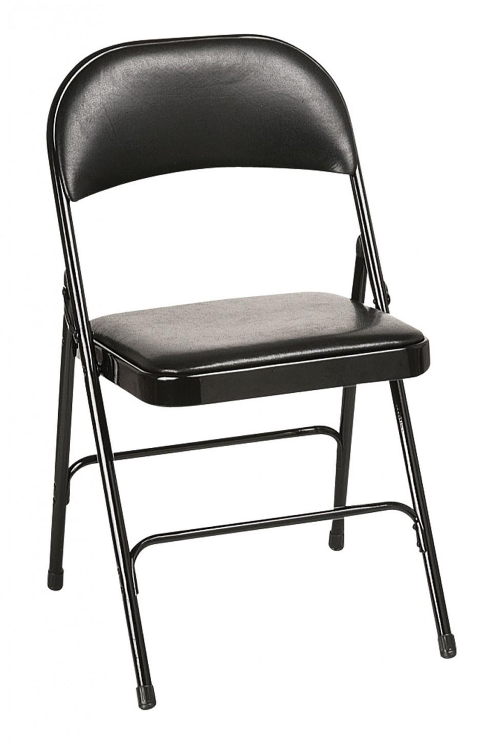 Chaise pliante plius vinyl achat chaises pliantes 29 00 for Chaise de bureau pliante