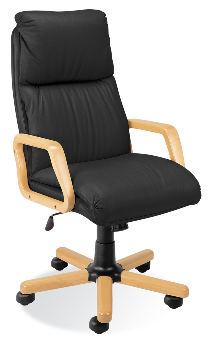 fauteuil de bureau cuir ando bois achat fauteuil bureau. Black Bedroom Furniture Sets. Home Design Ideas