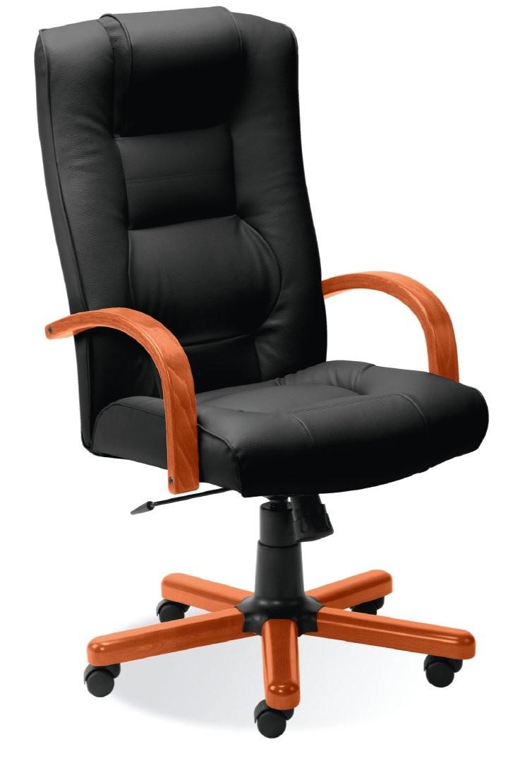 fauteuil de bureau cuir cherry achat fauteuils de direction 369 00. Black Bedroom Furniture Sets. Home Design Ideas