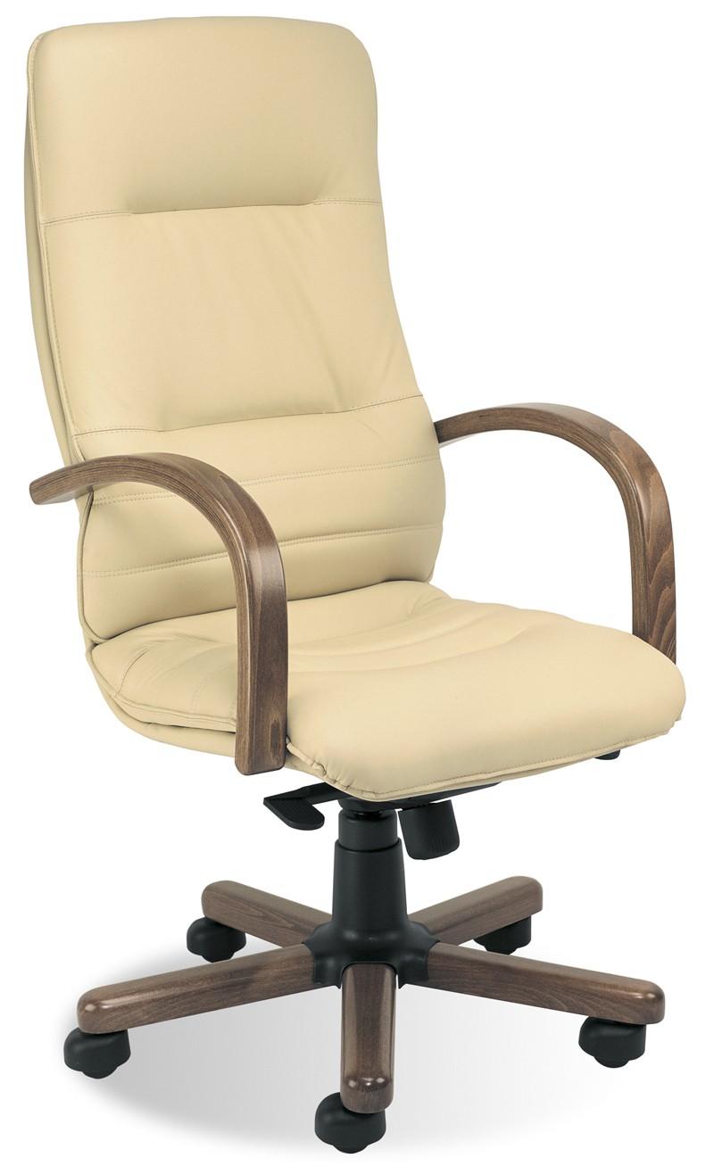 fauteuil de bureau cuir ivory achat fauteuils de direction 406 00. Black Bedroom Furniture Sets. Home Design Ideas