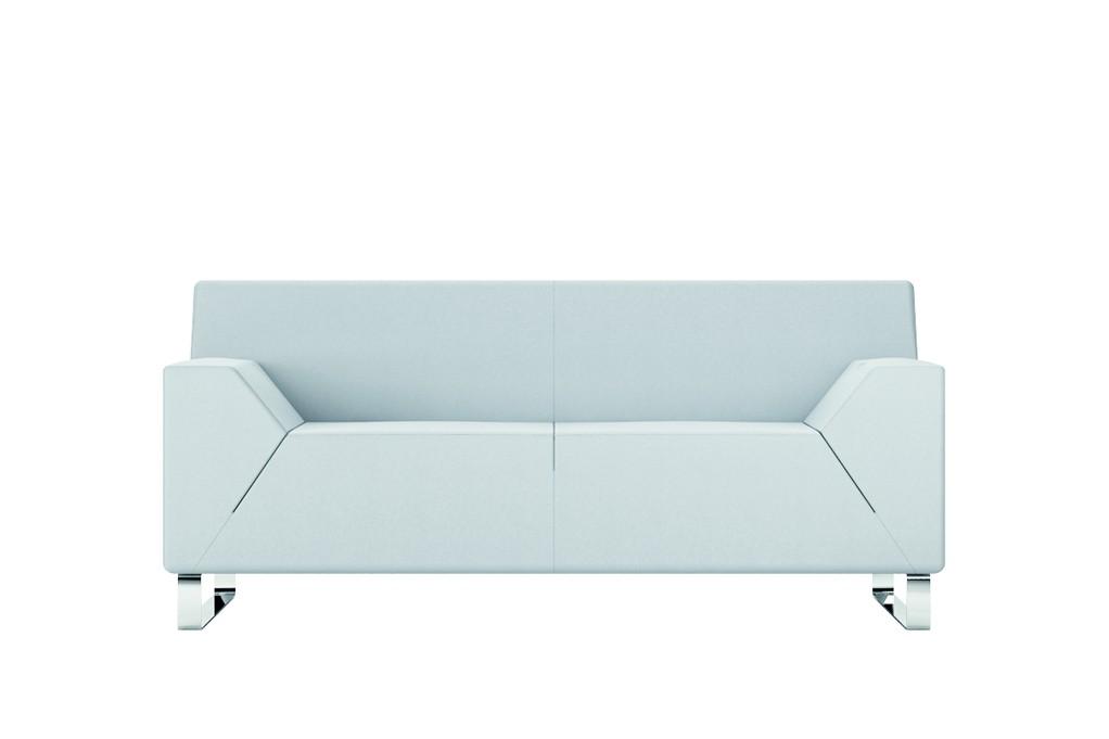 Canap 2 places hexa achat fauteuils d 39 accueil canap s chaises s - Canape simili cuir blanc pas cher ...