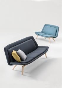 Fauteuils d'accueil, canapés & chaises salle d'attente - Canapé d'accueil 2 et 3 places INUIT