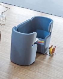 Fauteuils d'accueil, canapés & chaises salle d'attente - Cellule acoustique 2 personnes Meeting