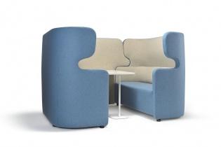 Fauteuils d'accueil, canapés & chaises salle d'attente - Cellule acoustique 4 personnes Meeting