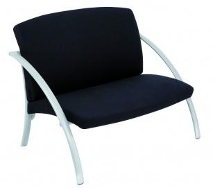 Fauteuils d'accueil, canapés & chaises salle d'attente - Chauffeuse 2 place Novel