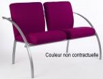 Fauteuils d'accueil, canapés & chaises salle d'attente - Chauffeuse Eva 2 places