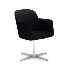 Fauteuils d'accueil, canapés & chaises salle d'attente - Fauteuil d'accueil Athis Noir