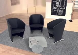 Fauteuils d'accueil, canapés & chaises salle d'attente - Fauteuil d'accueil Styl