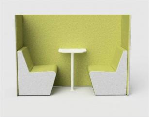 Fauteuils d'accueil, canapés & chaises salle d'attente - Vis à vis 2 places INTIMITY
