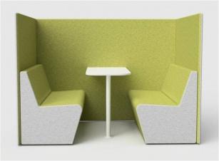 Fauteuils d'accueil, canapés & chaises salle d'attente - Vis à vis 4 places INTIMITY
