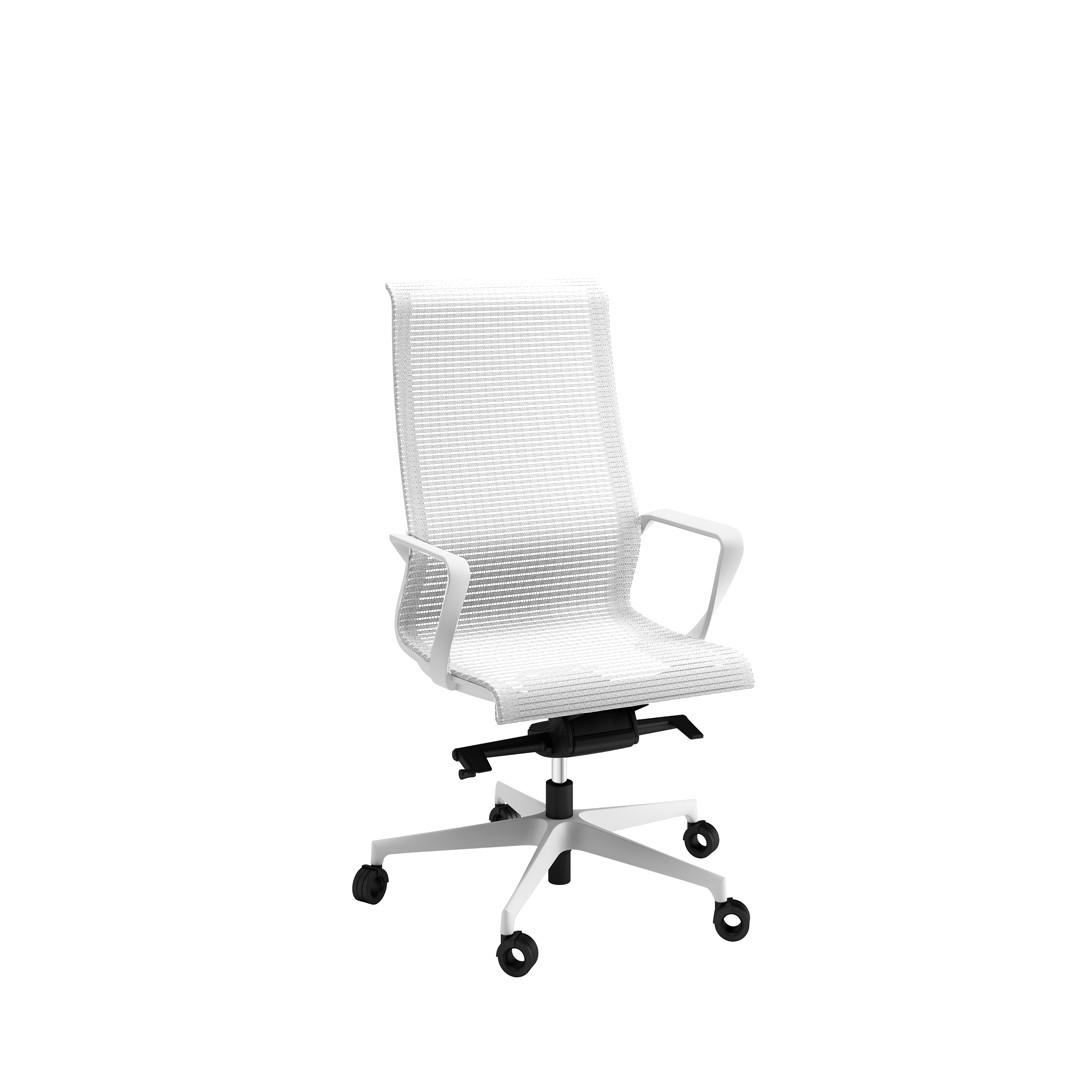 Fauteuil de direction dynamic structure blanche achat - Fauteuil de bureau solide ...