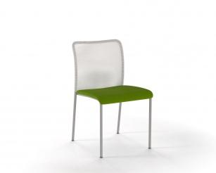 Sièges visiteurs et réunions - Chaise Stay résille blanche