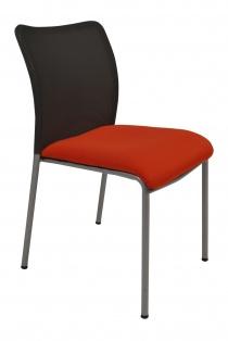 Sièges visiteurs et réunions - Chaise Stay résille noire