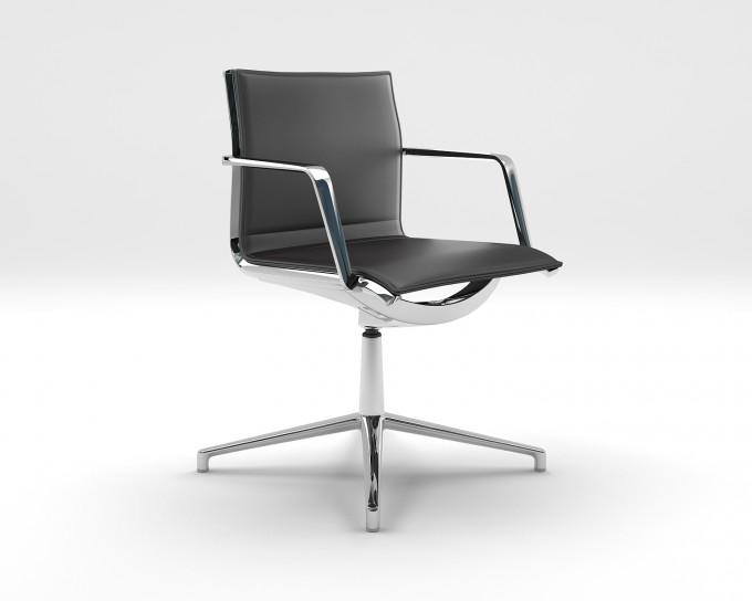 fauteuil visiteur cuir alu achat si ges visiteurs et r unions 685 00. Black Bedroom Furniture Sets. Home Design Ideas