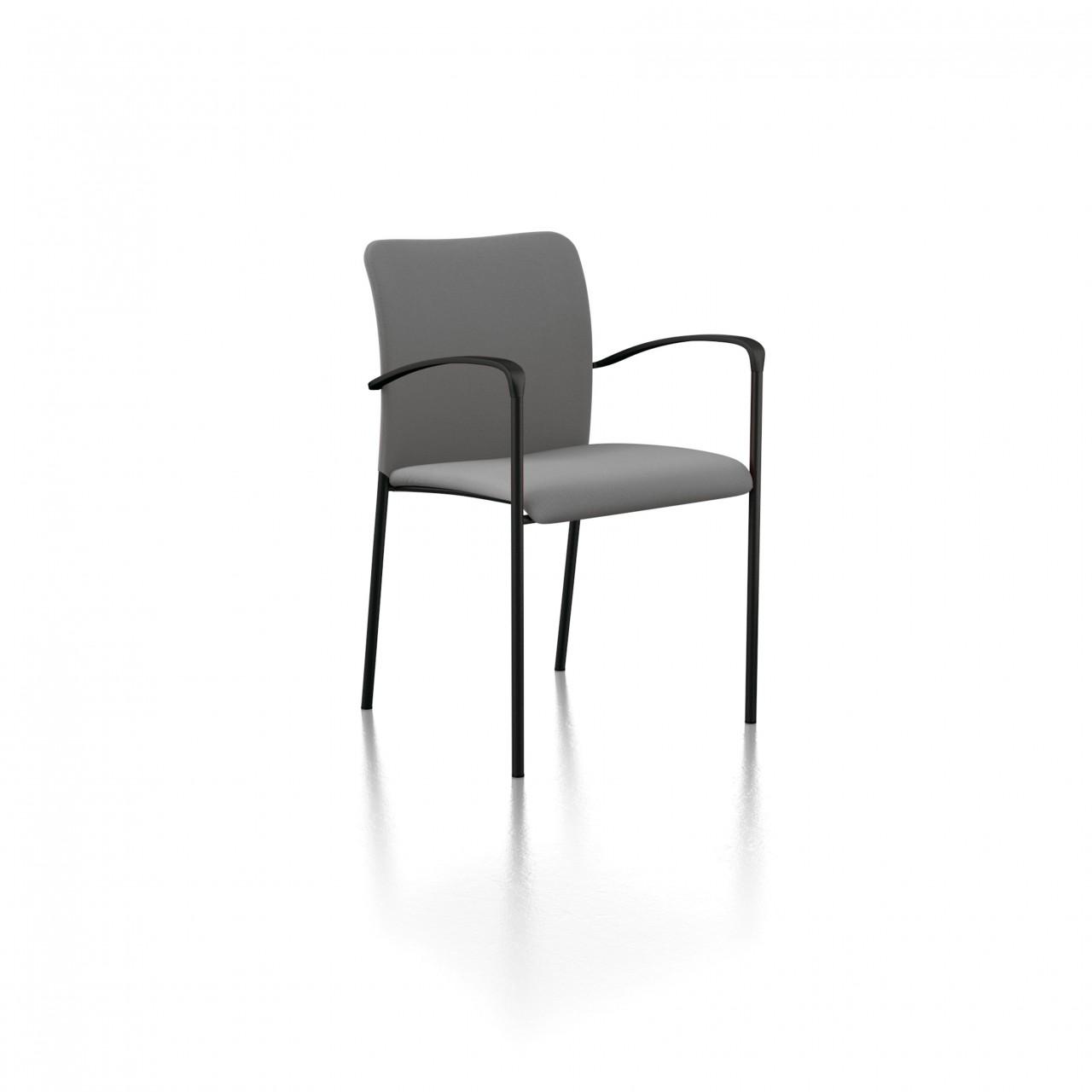 fauteuil visiteur stay dossier tissu. Black Bedroom Furniture Sets. Home Design Ideas