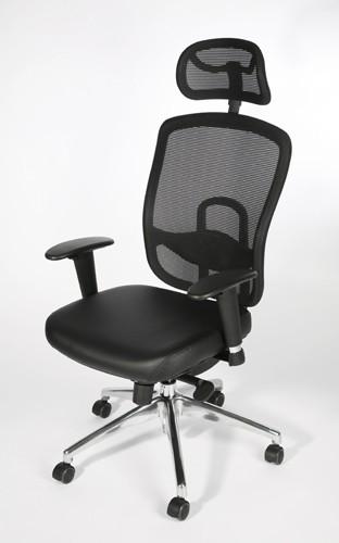 Fauteuilde bureau ergonomique cuir ergo cuir - Fauteuil de bureau solide ...