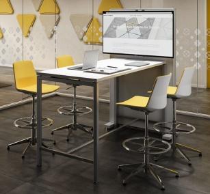 Table connectées - Table de réunion Haute Core+TVBOX