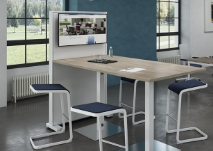 Table connectées - Table haute GRISHKA + TVBOX