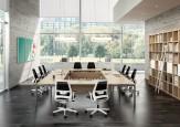 Table de conférence - Table de conférence carrée 16 personnes
