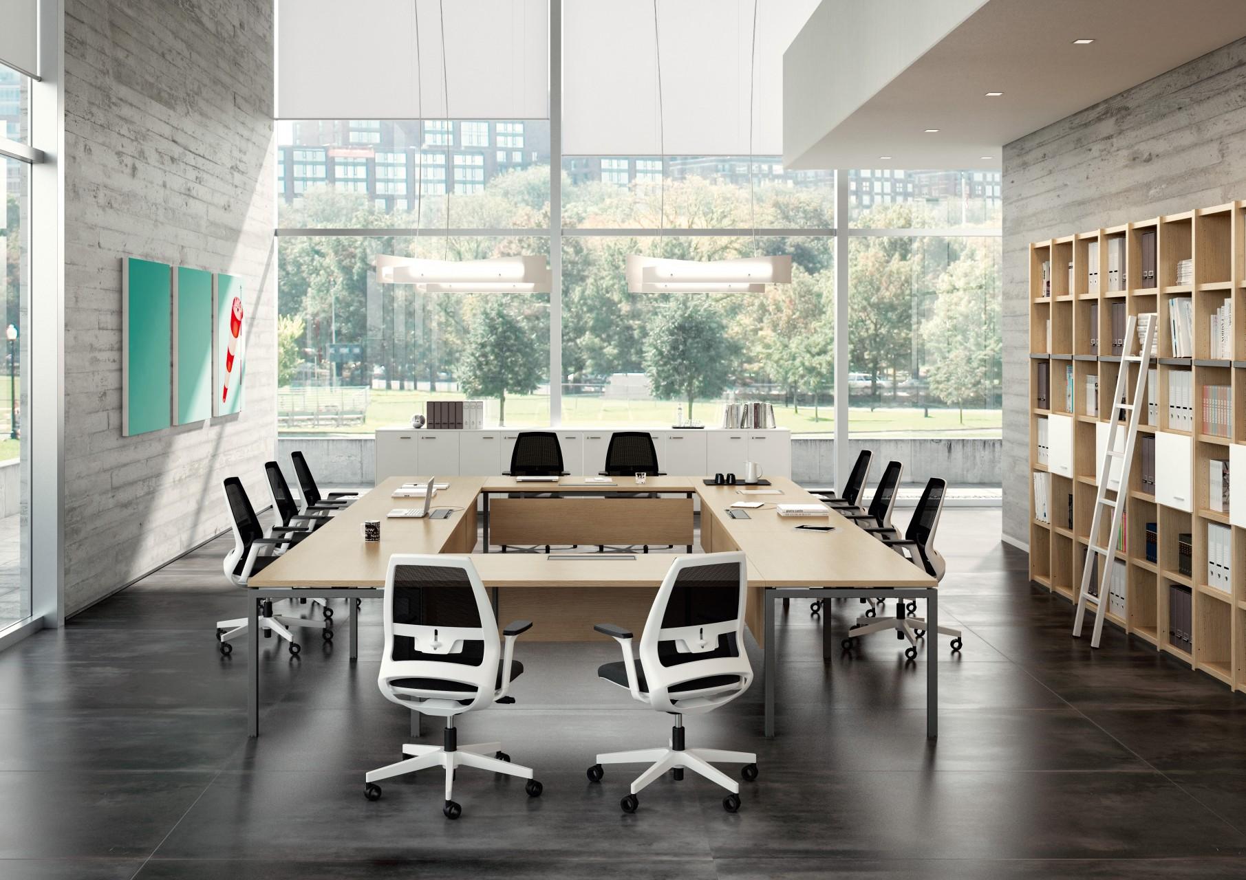 Table De Conférence Carrée 16 Personnes