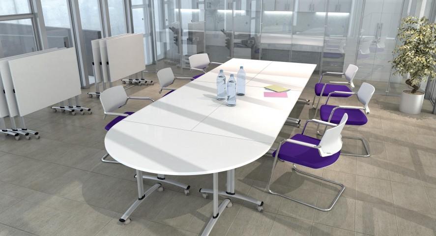 Table 1/2 ronde basculante abattante 160 cm