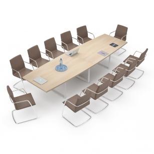 Table de réunion - Table de réunion 12/14 pers AVENE+ Stratifié antibactérien