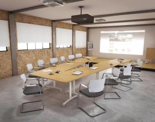 Table pliantes et abattantes - Table de réunion Basculante en V 12 Personnes