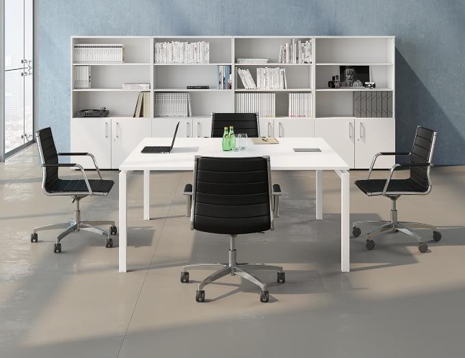 Table de réunion carrée Téos 160x161 cm