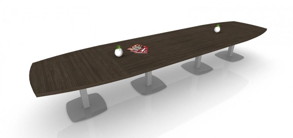 Table de réunion direction Tonneau 18/20 PL pieds carrés