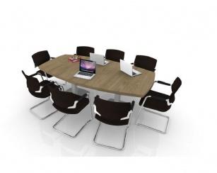 Table de réunion - Table de réunion direction Tonneau 8/10 PL pieds carrés