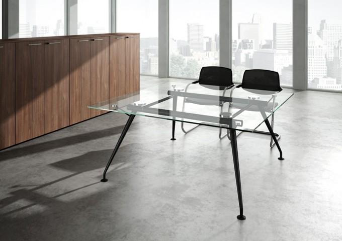 Table de réunion en verre Status