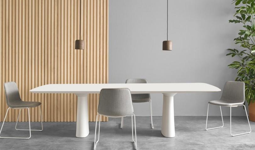 Table de réunion Essens laqué ou plaqué