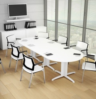 Table de réunion ovale Atlas