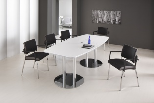 Table de réunion - Table de réunion pieds Chrome