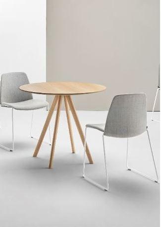 Table de réunion ronde Stiks