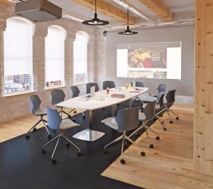 Table de réunion - Table de réunion Tonneau 14/16 Places pieds tulipe