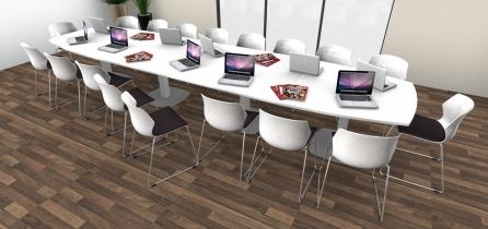 Table de réunion - Table de réunion Tonneau 18/20 Places pieds tulipe