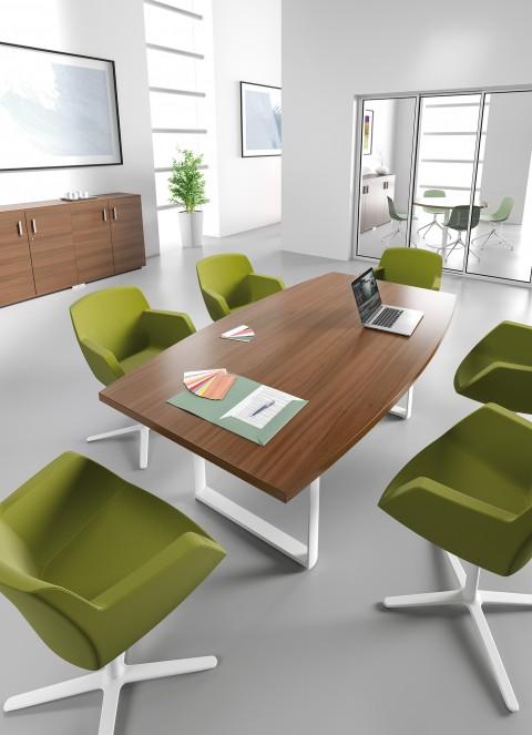 Table de réunion Tonneau 6/8 Pers AVENE+