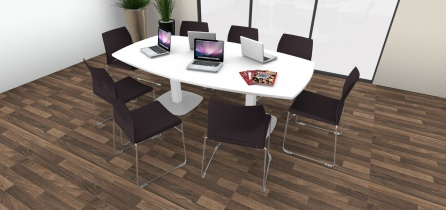 Table de réunion - Table de réunion tonneau 8/10 places pieds tulipe
